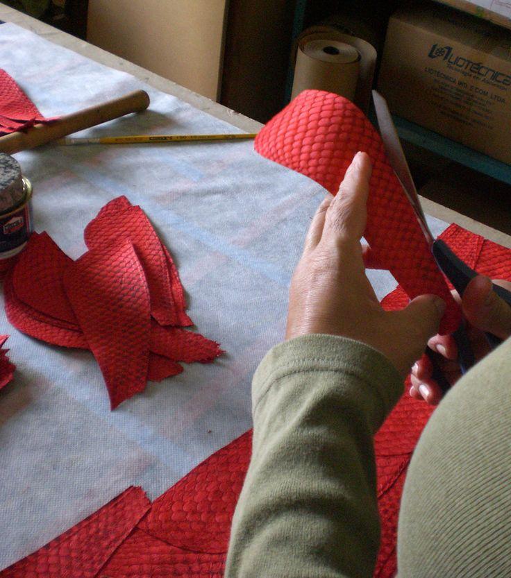 Recorte para fabricação de mantas | Cuts for quilt making.