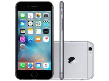 "iPhone 6S Plus Apple 128GB Cinza Espacial 4G - Tela 5.5"" Retina Câm. 12MP + Selfie 5MP iOS 9"