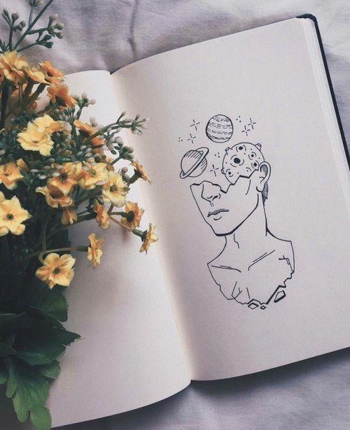 Dinge zum Zeichnen – Gesicht und Planeten // Einfaches Zeichnen, Dinge zum Zeichnen, Zeichnen