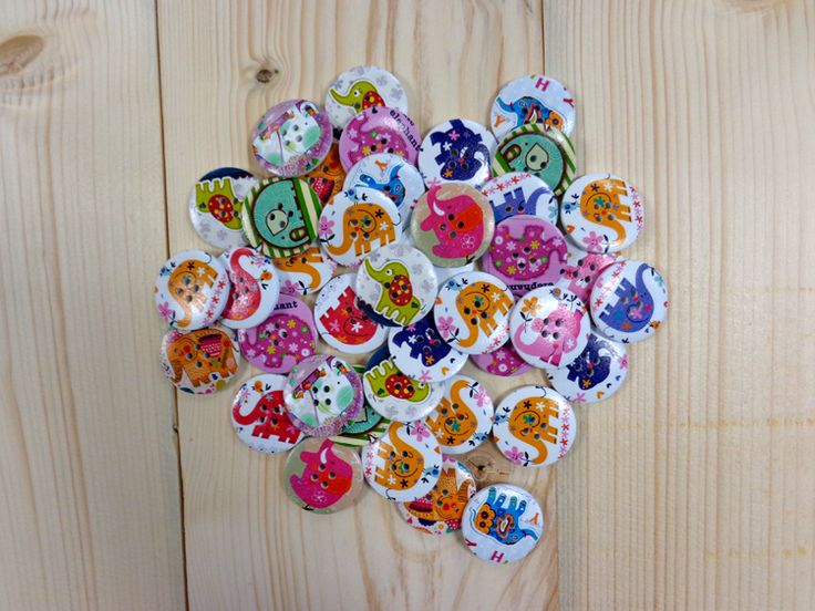 Κουμπιά Ξύλινα Ελεφαντάκια H545