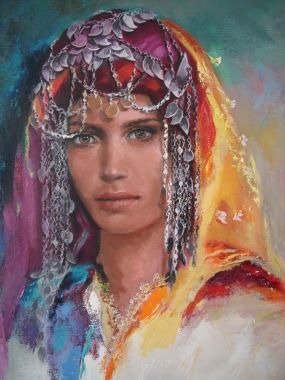 Remzi Iren -.Turkish Painter Anatolia headband..Aydın- Germencik