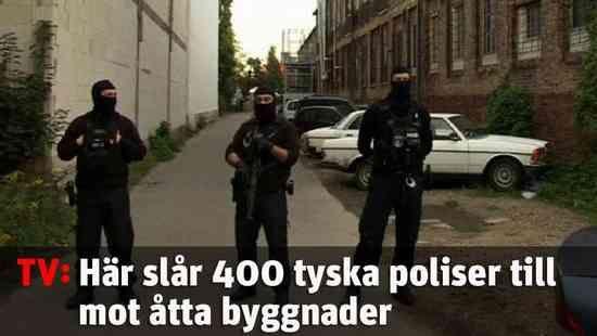 Här slår tyska polisen till mot moskén