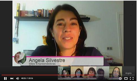 Ontem tivémos mais uma videoconferências épica do grupo das Mães Empreendedoras Online