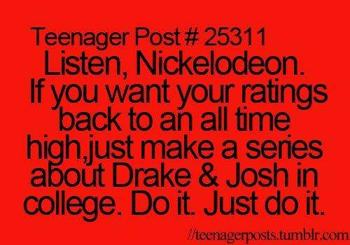 Yeah, Disney already screwed up so its Nickelodeon's chance to turn things around.