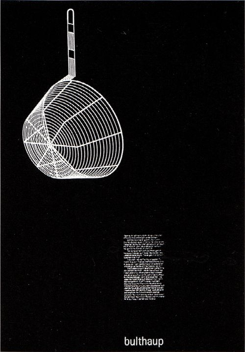 basketball sneakers for girls aicher Bulthaup   Ustensils   Poster   1979