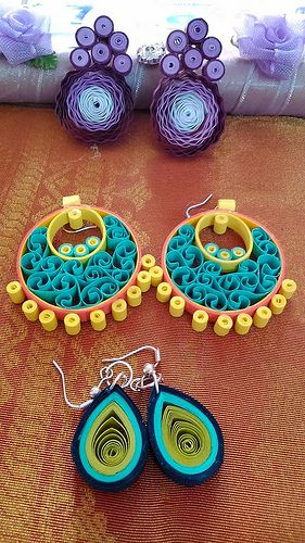 Quilled earrings   Flickr - Photo Sharing!