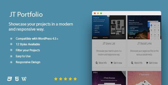 JT Portfolio by JSquareThemes on CodeCanyon