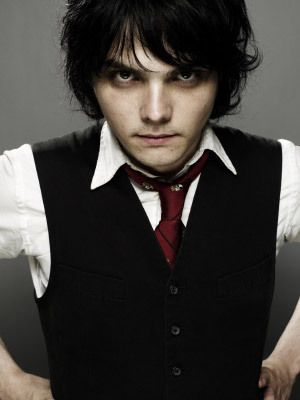 (Gerard Way) Hi I am Gerard and I am a monster from Holloween town My dad is Jack skellington and my mom is sally my best friend is frank I love to draw and sing for a band Called My Chemical Romance anyway I'm a really nice guy oh and I love to die my hair different colors anyway come say hi