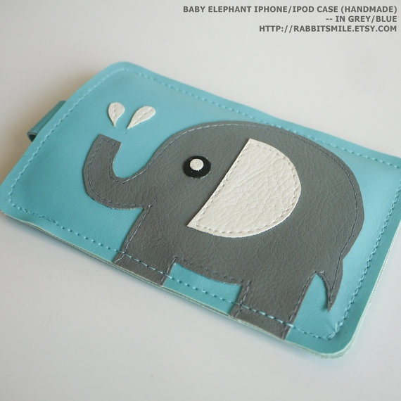 Baby Elephant iPhone 4 Case / iPhone 4 Cover / iPod Case / iPhone 4S Case - in Grey for $18.00 at etsy.com