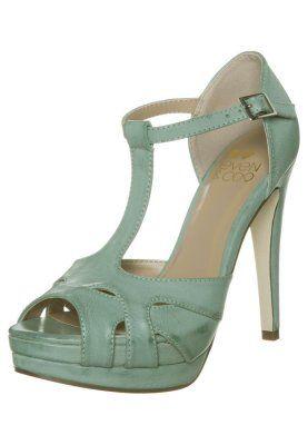 Højhælede sandaletter / Højhælede sandaler - grøn