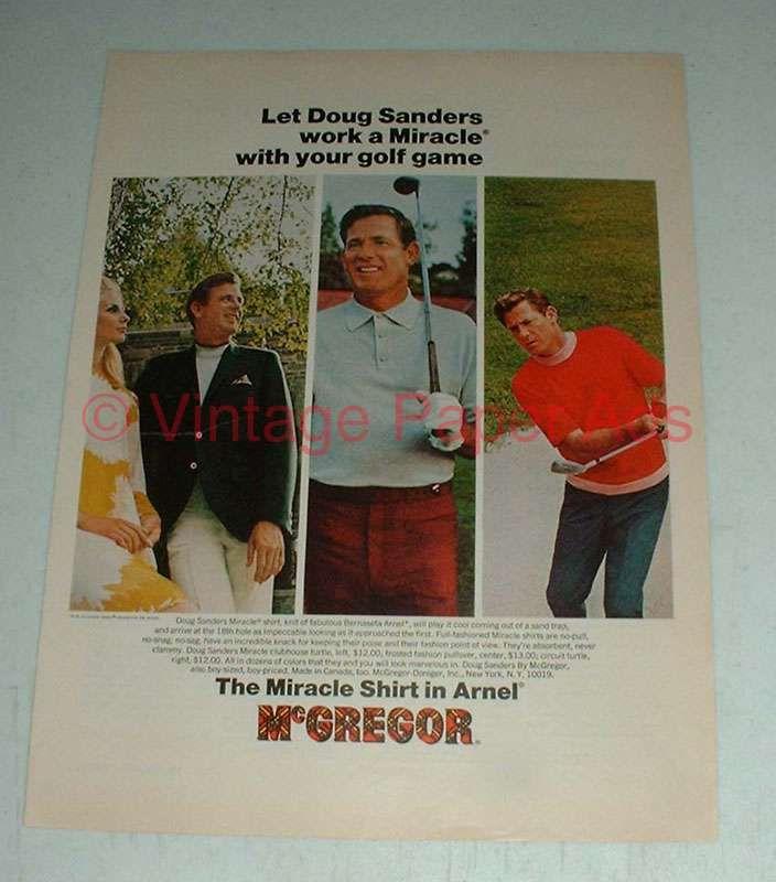 Vintage McGregor Shirt Ad w/ Doug Sanders