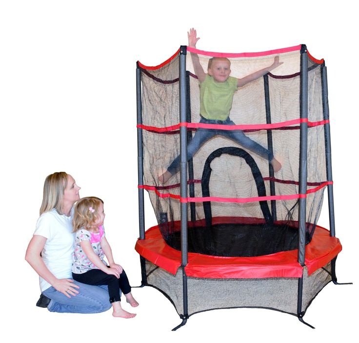 """Propel Trampolines PTS55-RE Junior Trampoline with Enclosure, 55"""", Red"""