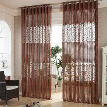 Hot cinza moderno sombra net janela cortinas para sala de estar do cozinha persianas janelas tratamentos rideaux tecido(China (Mainland))