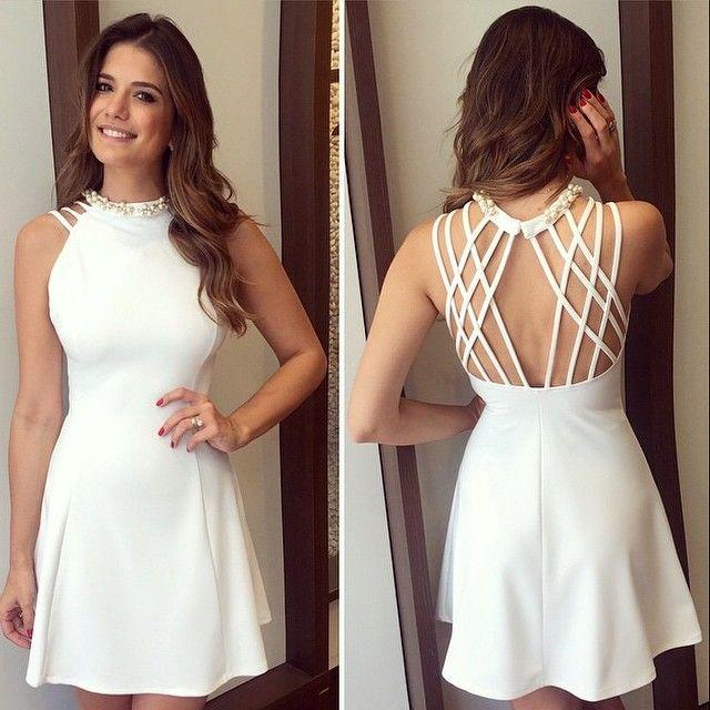 @arianecanovas arrasoouu 😱😱😱, vestido com detalhes em pérolas !!!!