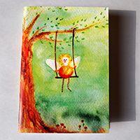 Erdőangyal Füzet #illusztráció#akvarell#angyal#erdő#füzet#design