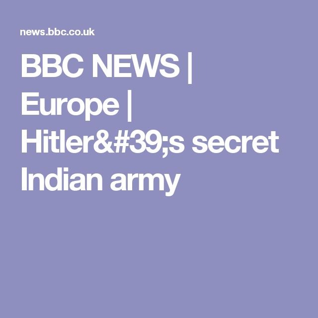 BBC NEWS | Europe | Hitler's secret Indian army