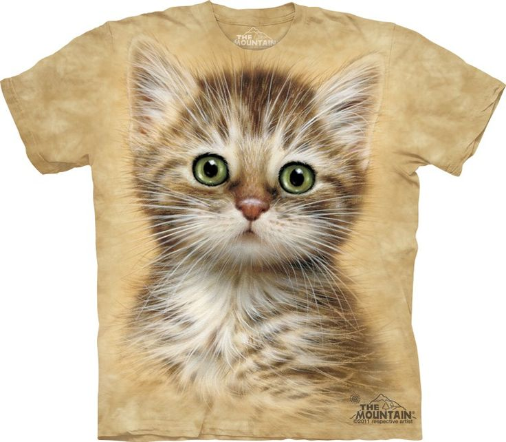 Brown Striped Kitten T-Shirt - Click image to see hundreds of different animal t-shirts #themountaintees