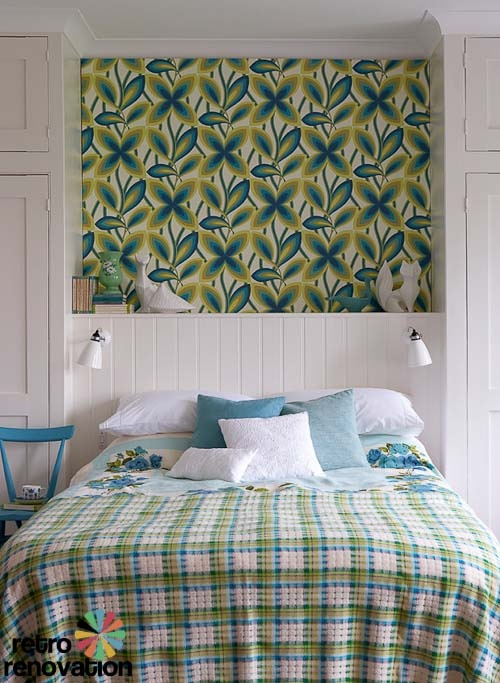 Love the Greens and blues: Greene Wallpapers, Vintage Wallpapers, Green Bedrooms, Design Ideas, Bedroom Design, Peacock, Statement Wallpapers, Bedroom Ideas