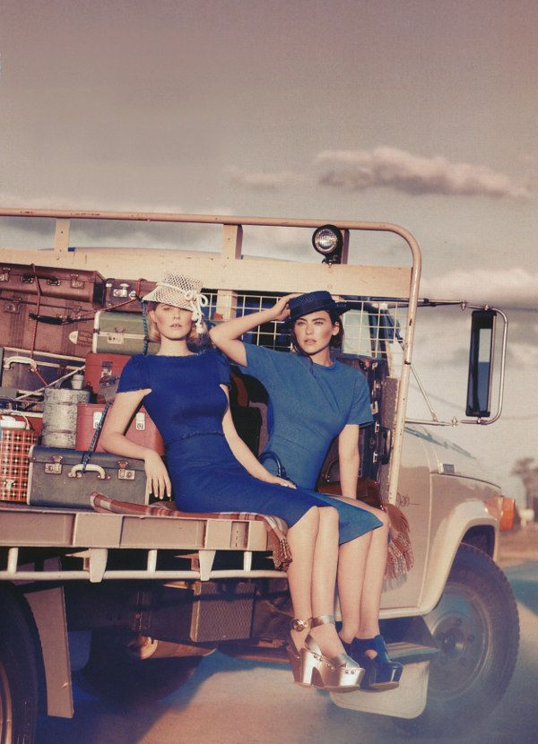 Girls on the road by Corrie Bond for Marie Claire Australia – Jelanie