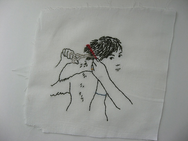 haircut embroidery