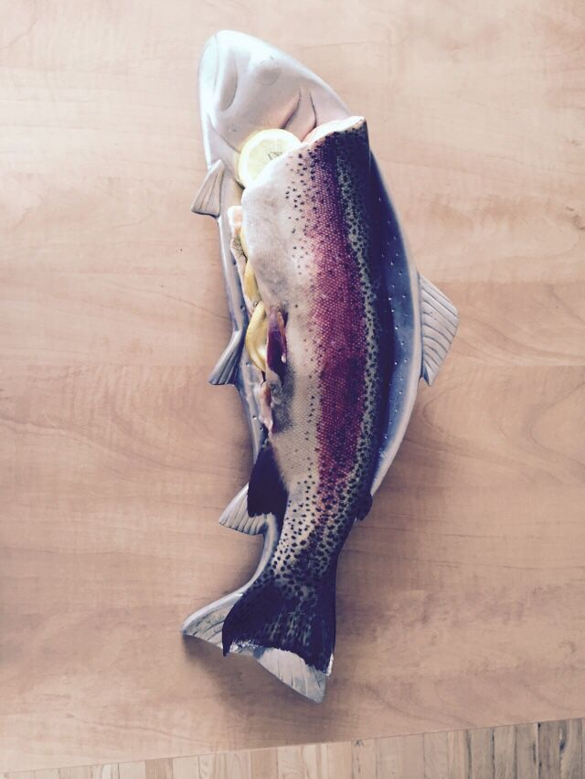 It's a beautiful thing. Line caught salmon.