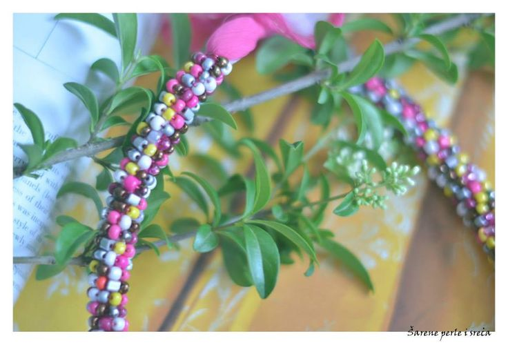 ❀ ✿necklace // more at : http://www.facebook.com/pages/%C5%A0arene-perle-i-sre%C4%87a/277610758921057