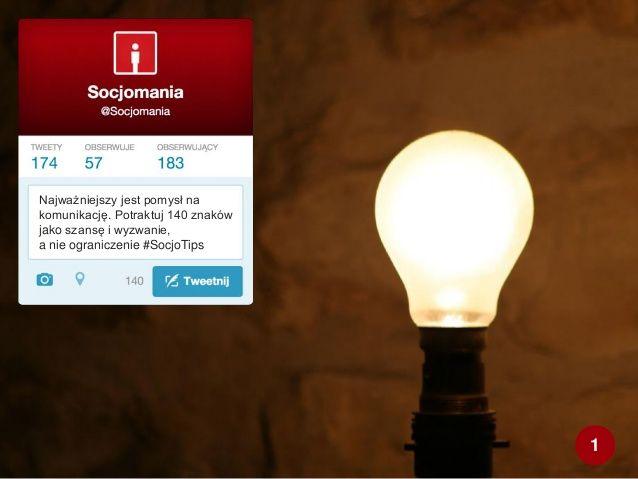 50 Twitter Tips (1). Cała prezentacja: http://www.slideshare.net/Socjomania/50-porad-jak-dziaac-na-twitterze  #Twitter #TwitterTips #SocialMedia #SocialMediaTips