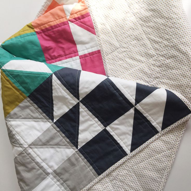 Modern baby quilt-modern toddler quilt-baby quilt blanket-homemade baby quilt-baby quilts for sale-baby bedding-toddler bedding-geometric by SwellandCloth on Etsy https://www.etsy.com/listing/221593760/modern-baby-quilt-modern-toddler-quilt