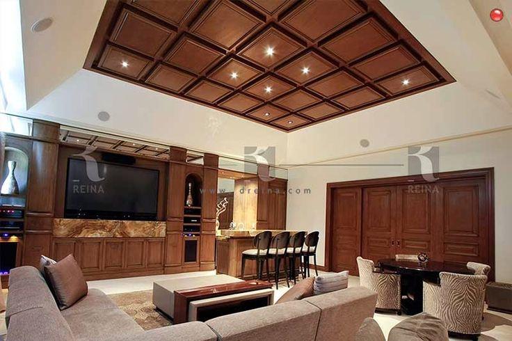 plafond de madera  SALON DE EVENTOS  Ceiling design