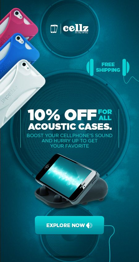 Acoustic CellPhone Cases for iPhone and Samsung #acountic #cases #cellphone #iphone #samsung #cellz #discount