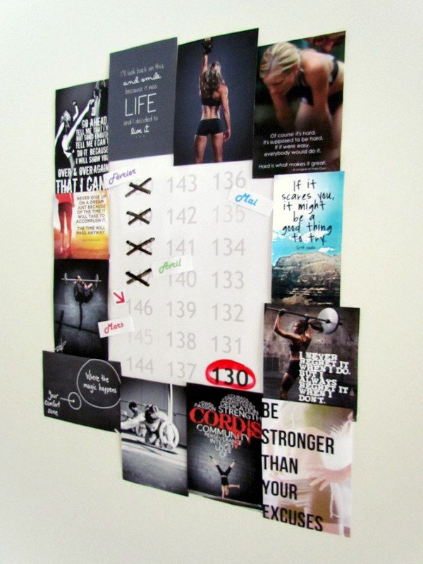 Motivation Wall. Lovee this idea!