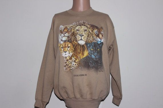 Vintage Cleveland Zoo Big Cat Crewneck by SouthsideThrowbacks. For Big Cats only! (or little cats. It's a smaller fit…)  #vintage #crewneck #fashion