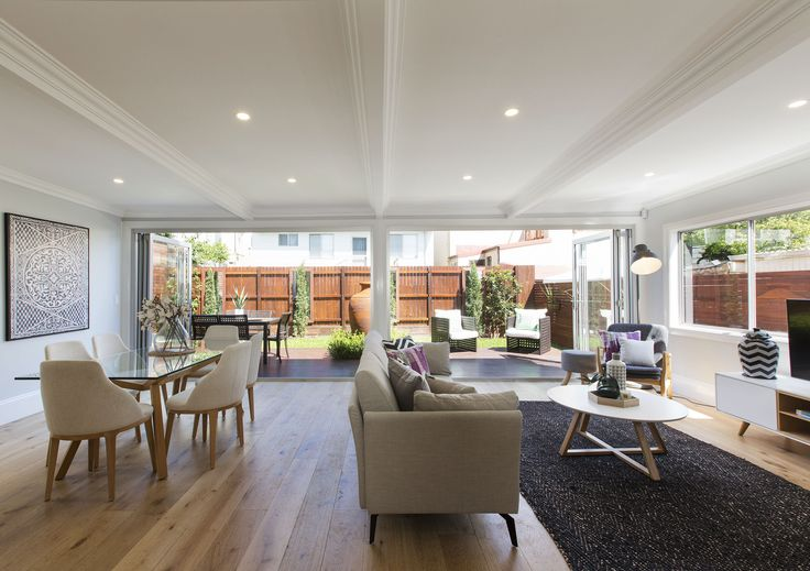 A classic double-fronted design. It's now a modern family entertainer | 12 Church Street, Balmain