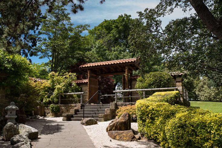 One of the entrance gates for the Japanese sections at Hobart's Royal Botanical Gardens