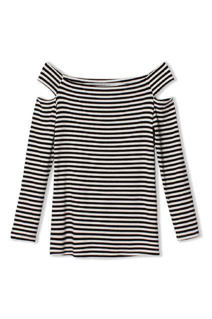 Cut-Out Striped Slim T-Shirt #MYTRENDTWOWARDROBE