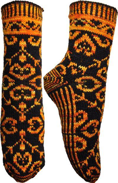 Echo & Narcissus Socks Knitting Pattern