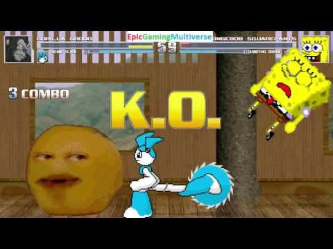 Annoying Orange And SpongeBob SquarePants VS Gorilla Grodd & Jenny The Robot In A MUGEN Match This video showcases Gameplay of Jenny Wakeman The Robot From The My Life As A Teenage Robot Series And Gorilla Grodd The Supervillain VS SpongeBob SquarePants And The Annoying Orange In A MUGEN Match / Battle / Fight