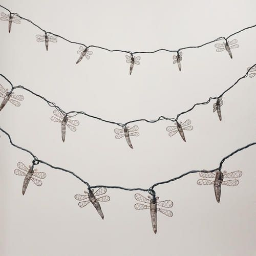 Beautiful Copper Dragonfly 10 Bulb String Lights