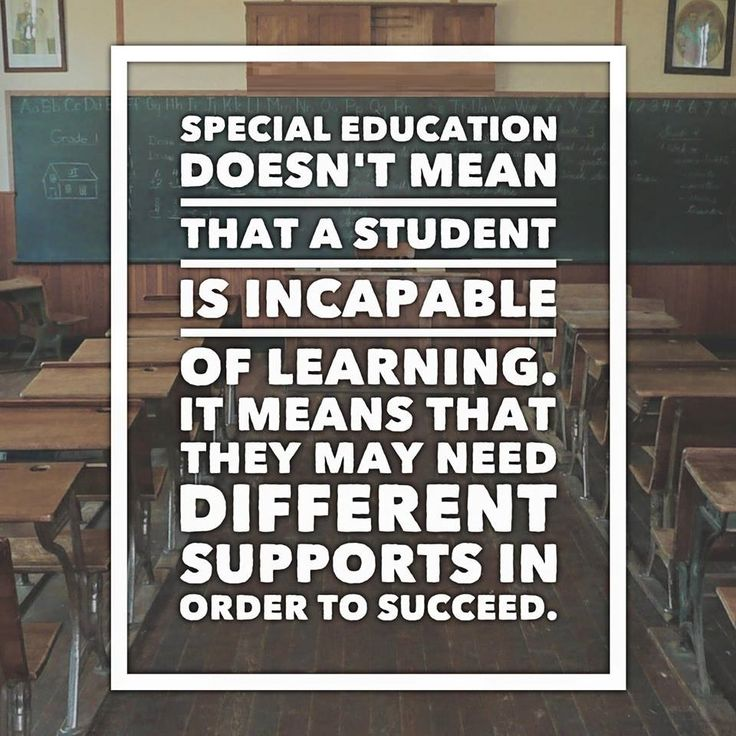 SPECIAL EDUCATION & NEEDS