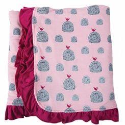 Kickee Pants Ruffle Bamboo Blanket in Lotus Hay Bales