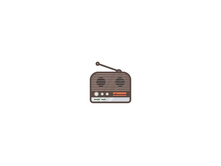 Radio Icon by Martin David