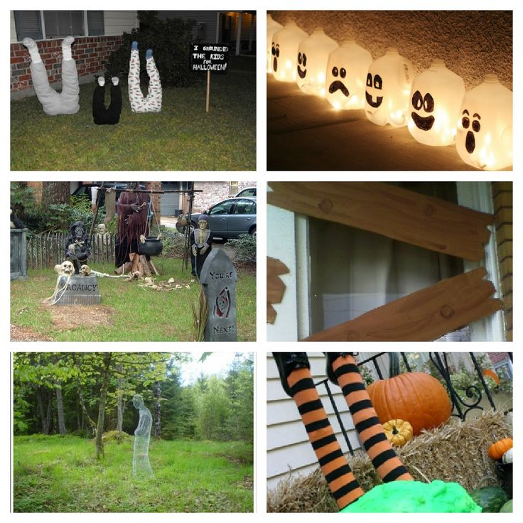halloween roundup ghost decorationoutdoor decorationshomemade - Easy To Make Halloween Decorations For Outside