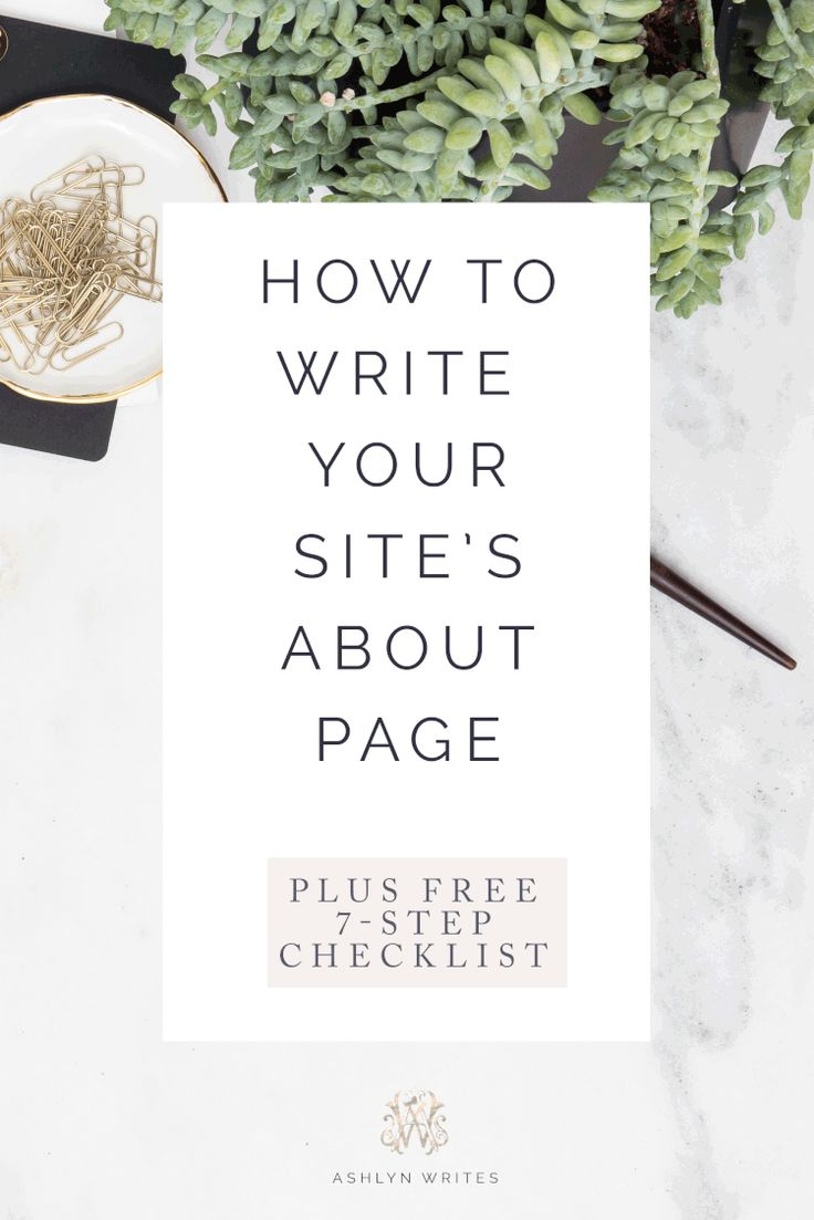 7 of the BEST checklist tips for Women Bloggers, Freelancers, + Entrepreneurs to write their own about page bio. Everything in this list is copywriter approved! Pin now, read later!