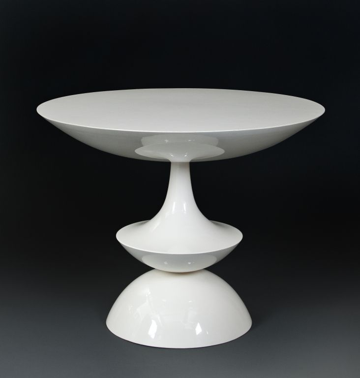 Fiberglass Console Table ~ Nanna ditzel white lacquered fiberglass side table for