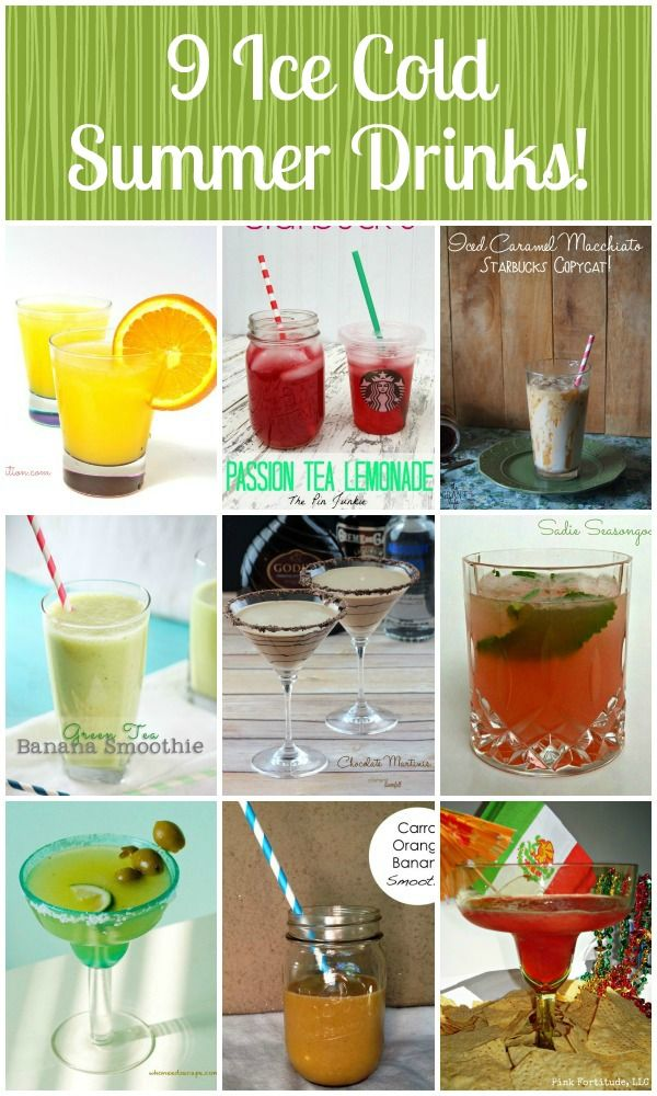 Whether you're having a party, a barbecue, or just want to cool down and enjoy the weather, these ice cold summer drink recipes are perfect!
