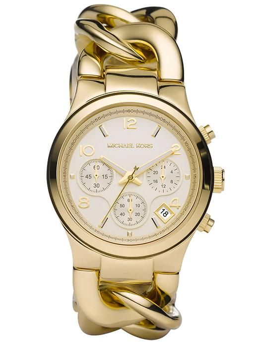 WANT this gold MK watch