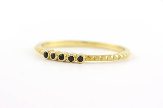 Pyramid Ring Gold Pyramid Ring Wedding Ring Gold Wedding