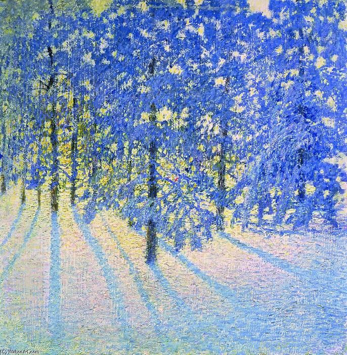 Matin d hiver, huile sur toile de Igor Emmanuilovich Grabar (1871-1960, Hungary)