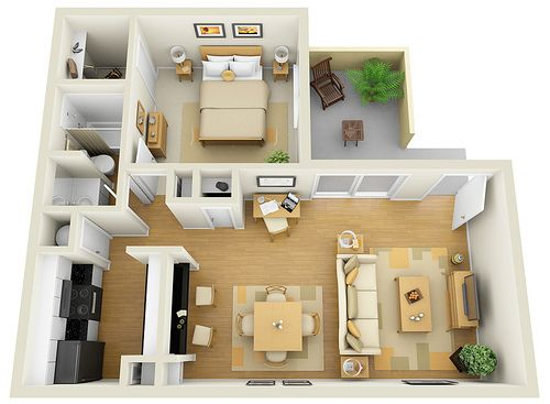 37 best 3d floor plans for sims images on pinterest for 1 bedroom rv