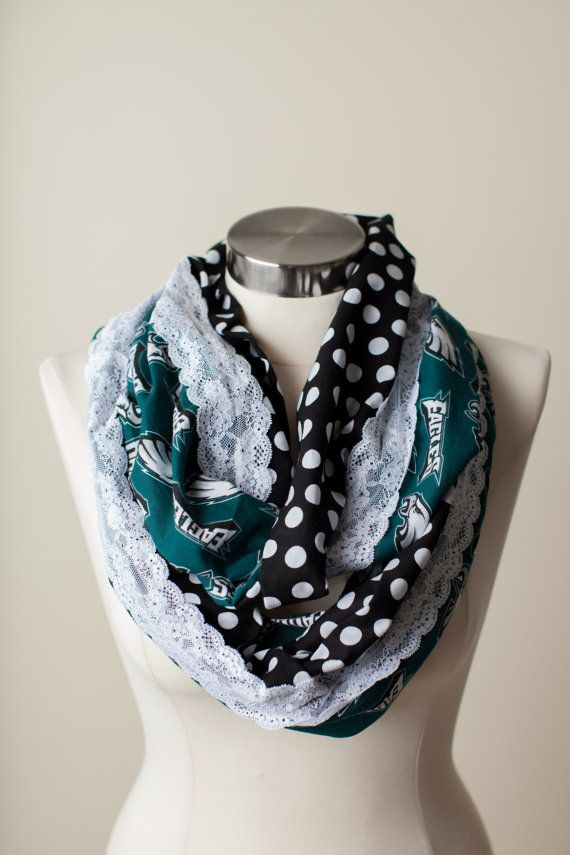 Hey, I found this really awesome Etsy listing at https://www.etsy.com/listing/168449066/philadelphia-eagles-nfl-infinity-scarf